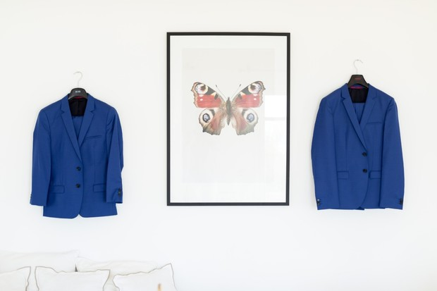 blue suit jackets for the groom