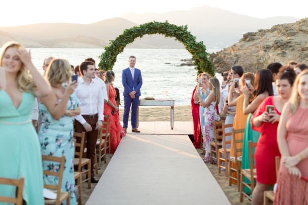outdoor ceremony by the beach
