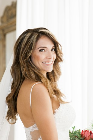 beach waves wedding hair