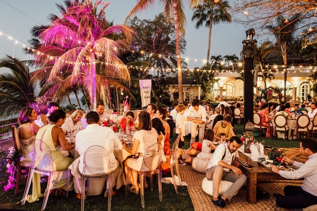 dramatic lighting for your outdoor wedding in Mexico