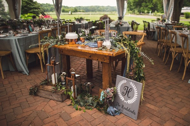 whimsical forest inspired sweetheart table