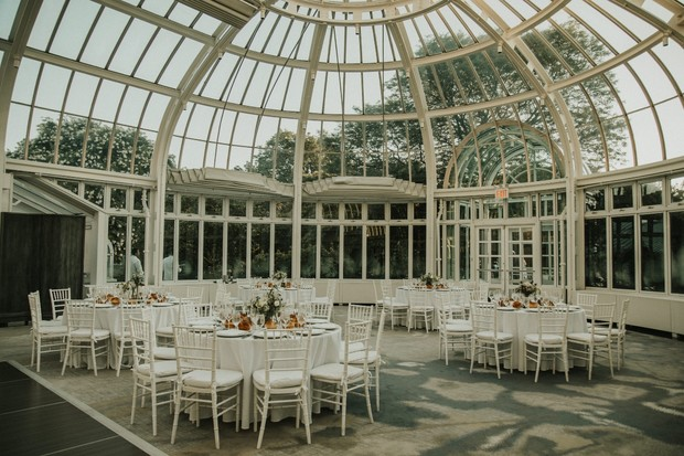gorgeous reception at The Palm House at Brooklyn Botanic Garden