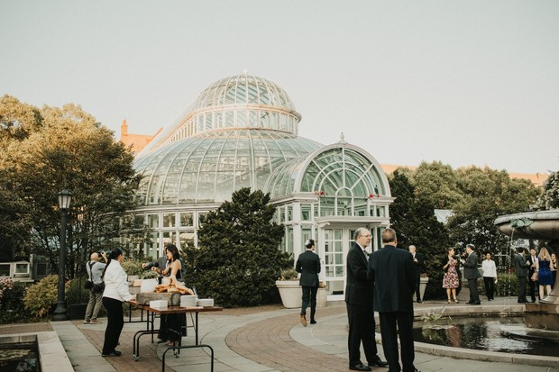 romantic wedding at The Palm House at Brooklyn Botanic Garden