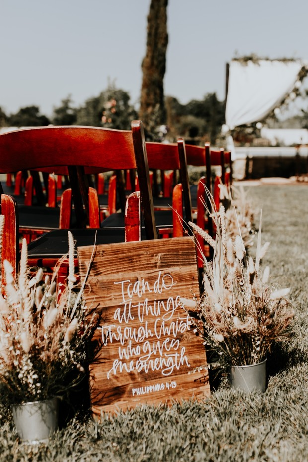 bible verse ceremony sign