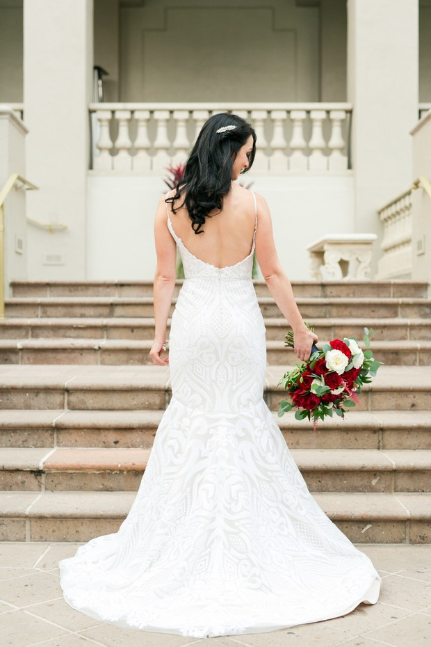 wedding dress in mermaid cut