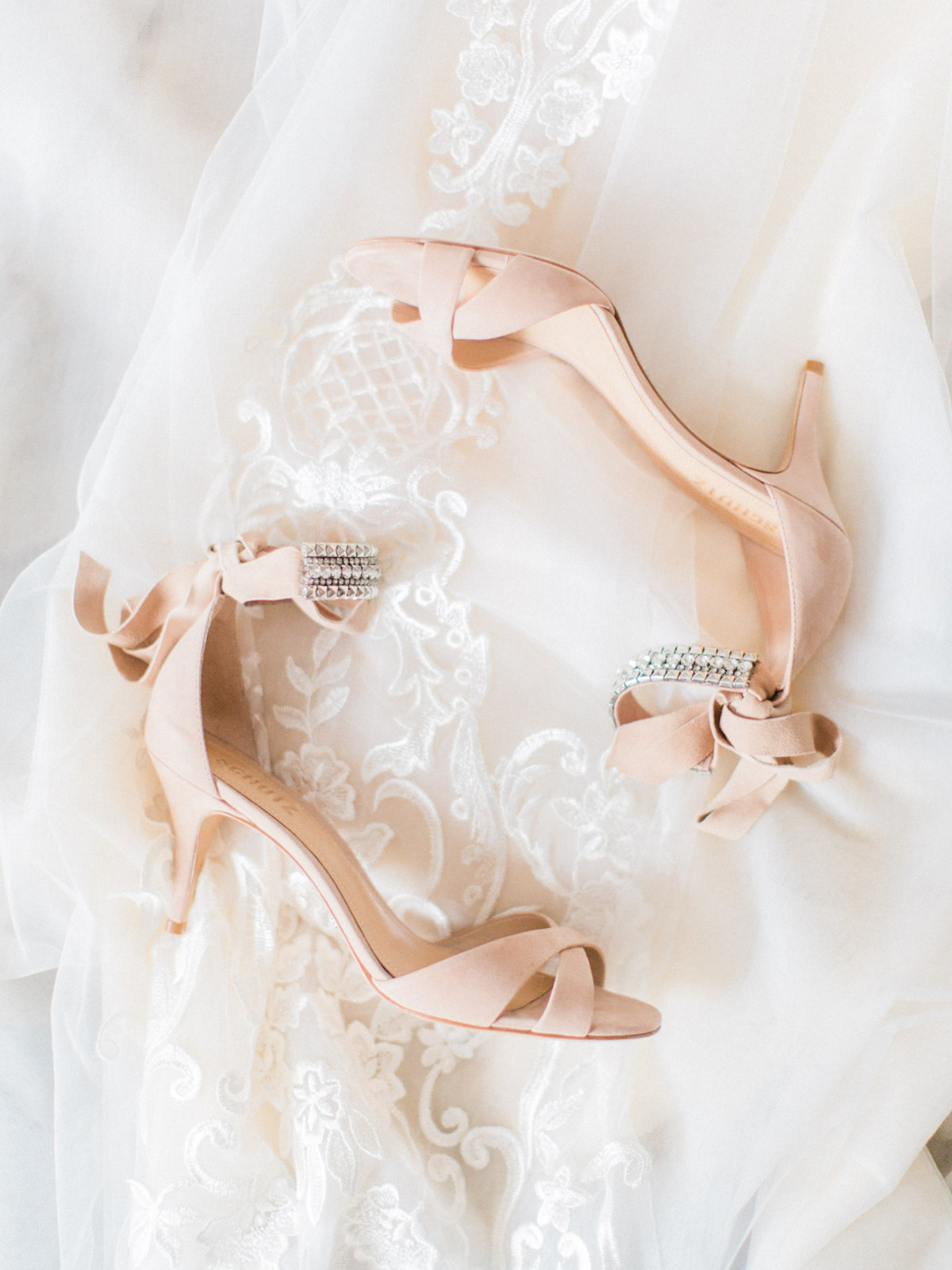 blush wedding heels
