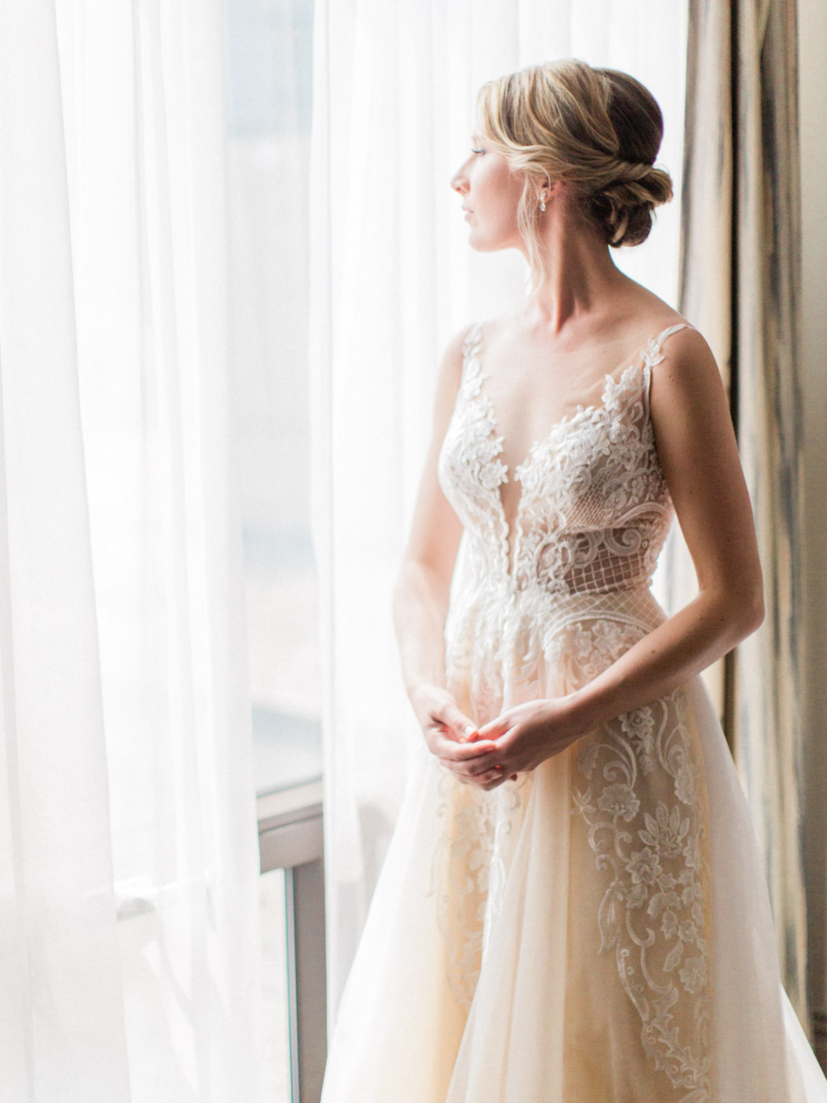 soft blush wedding dress