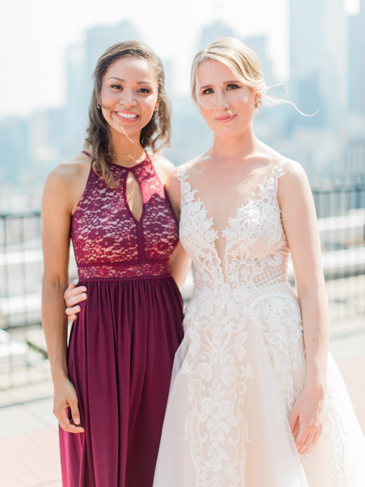 The Sweetest Minimal Red and Blush Wedding