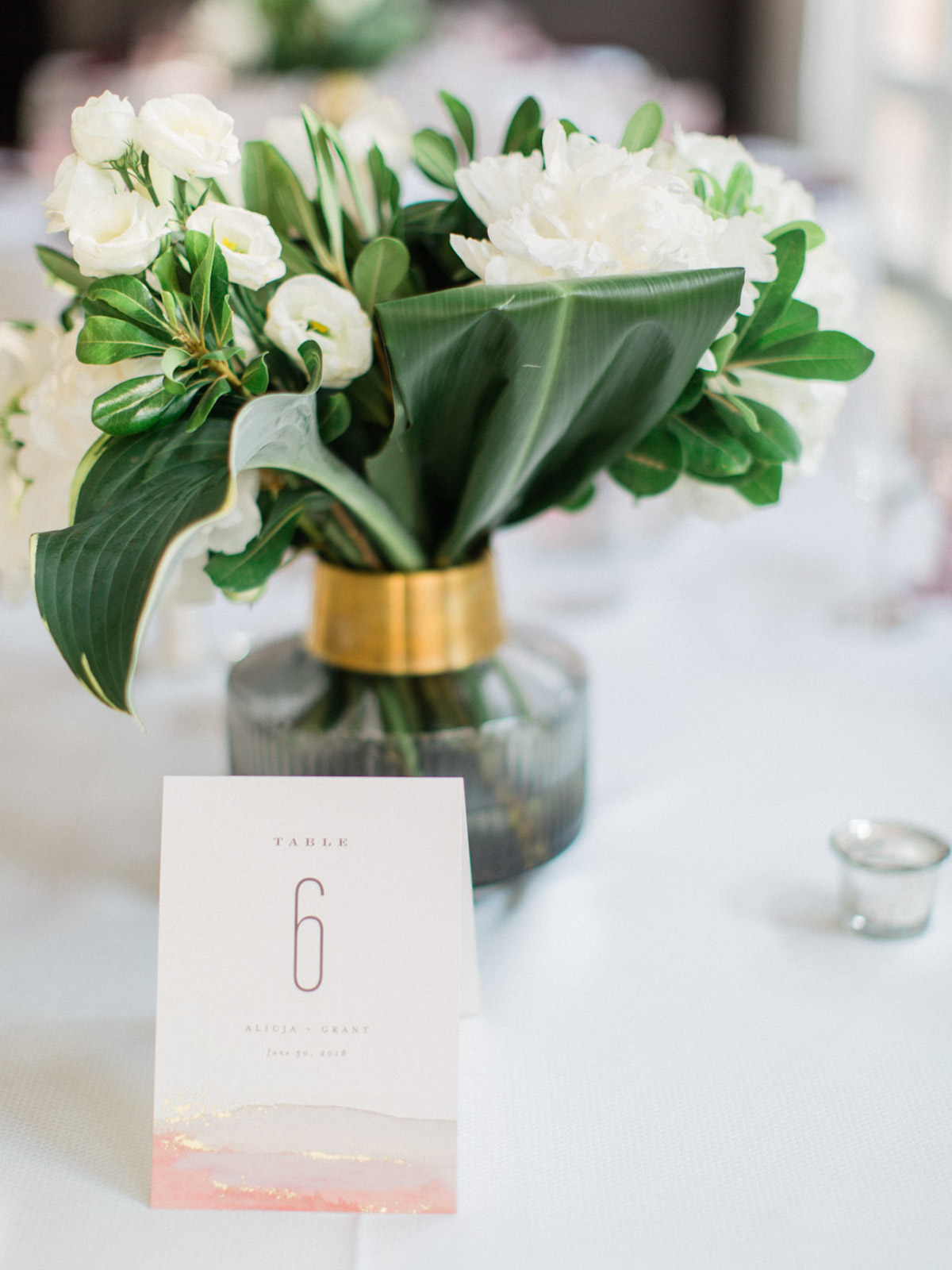 wedding watercolor table number