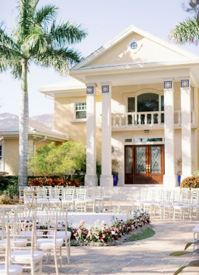 A Jewel Toned Private Estate Wedding Under the Stars in Florida