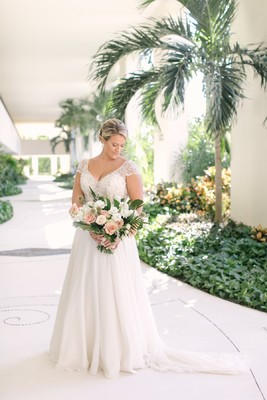 Blush and Gold Tropical Beach Wedding In Mexico