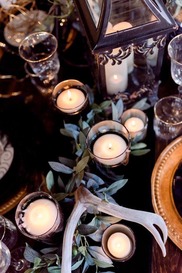 mysterious wedding table decor