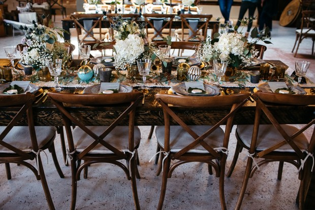 wedding table idea for your mid-century modern wedding reception