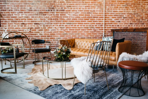 wedding mid century modern lounge