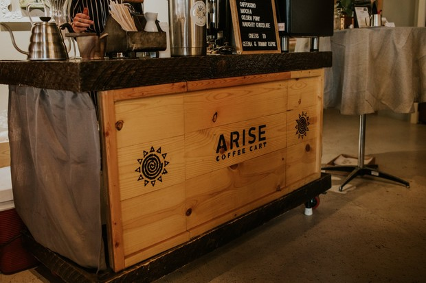 coffee cart for your wedding