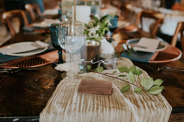 romantic and chic wedding table number