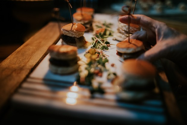 mini wedding sliders