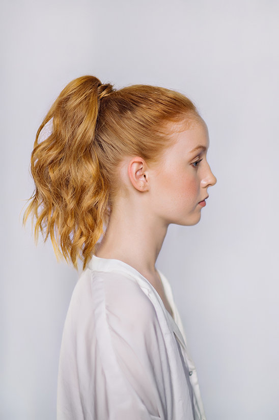 chic ponytail DIY