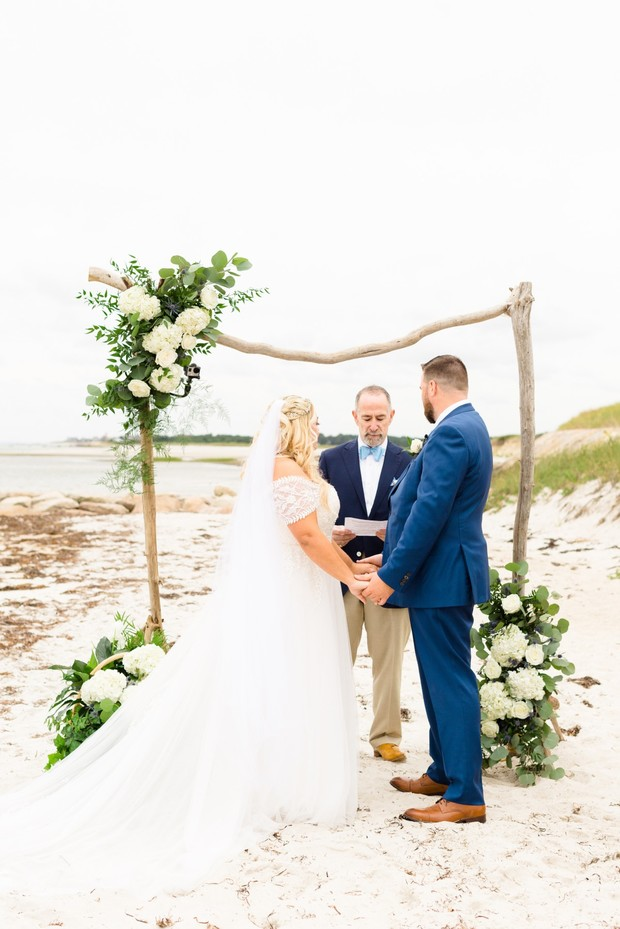 saying I do on the beach