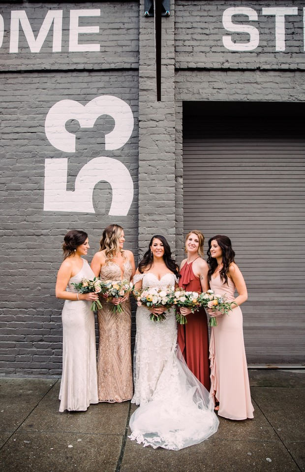 modern mismatched bridesmaid dresses