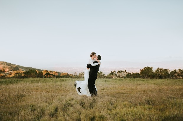 cute outdoor wedding portraits