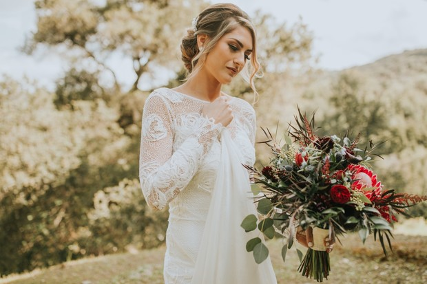 sweet and romantic bridal look