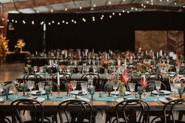 rustic chic wedding reception