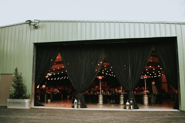 industrial wedding reception space