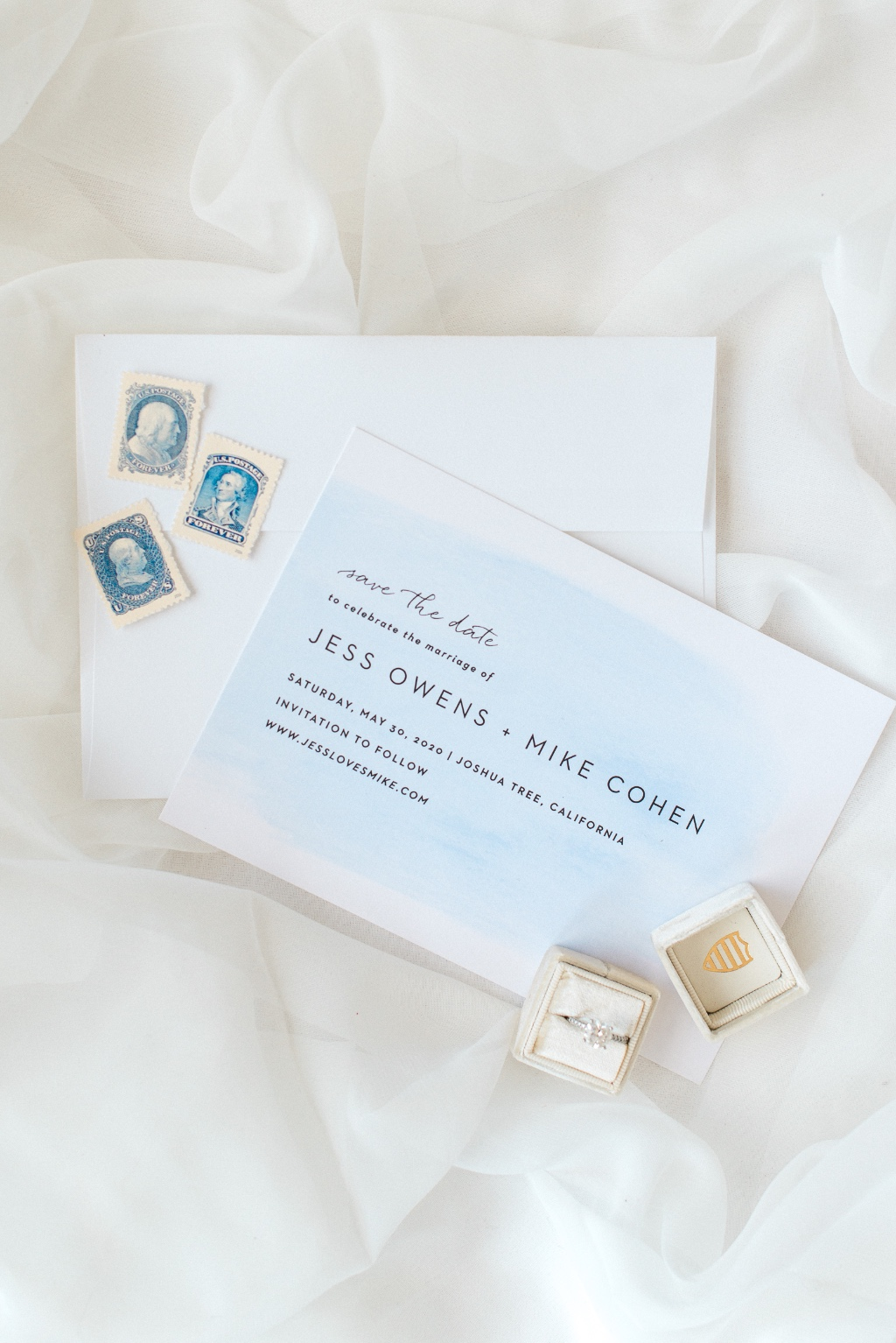 The Simple Brushstroke Wedding Invitation Suite adds a simple and modern look to you upcoming nuptials.