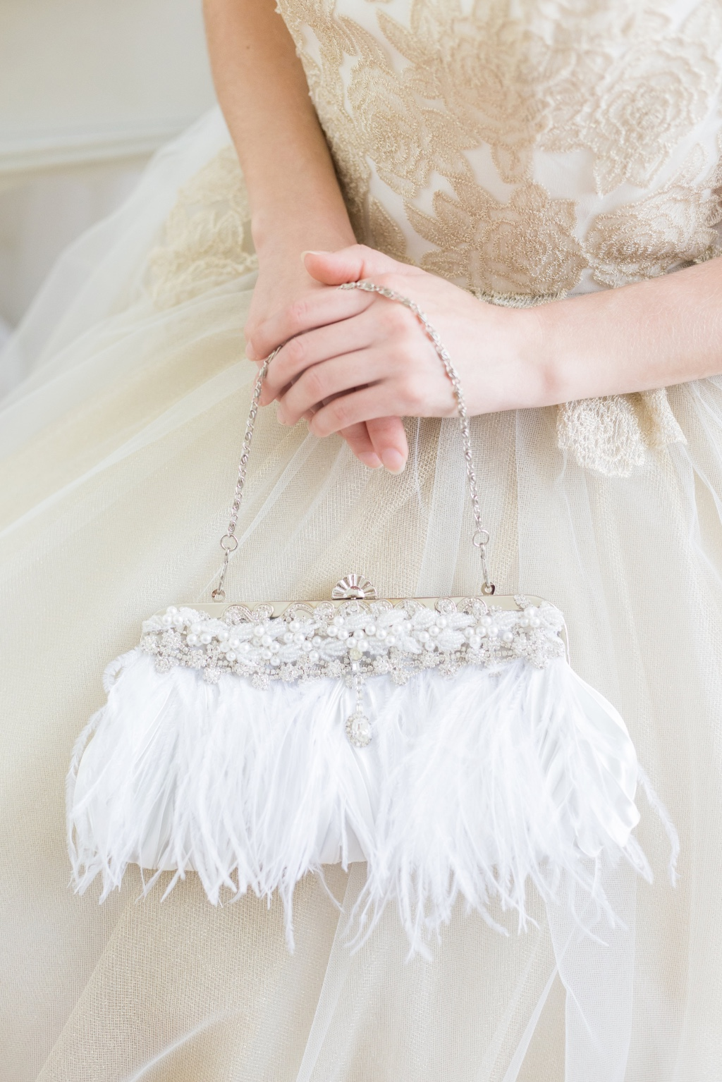 Gorgeous feather clutches that are one of a kind
