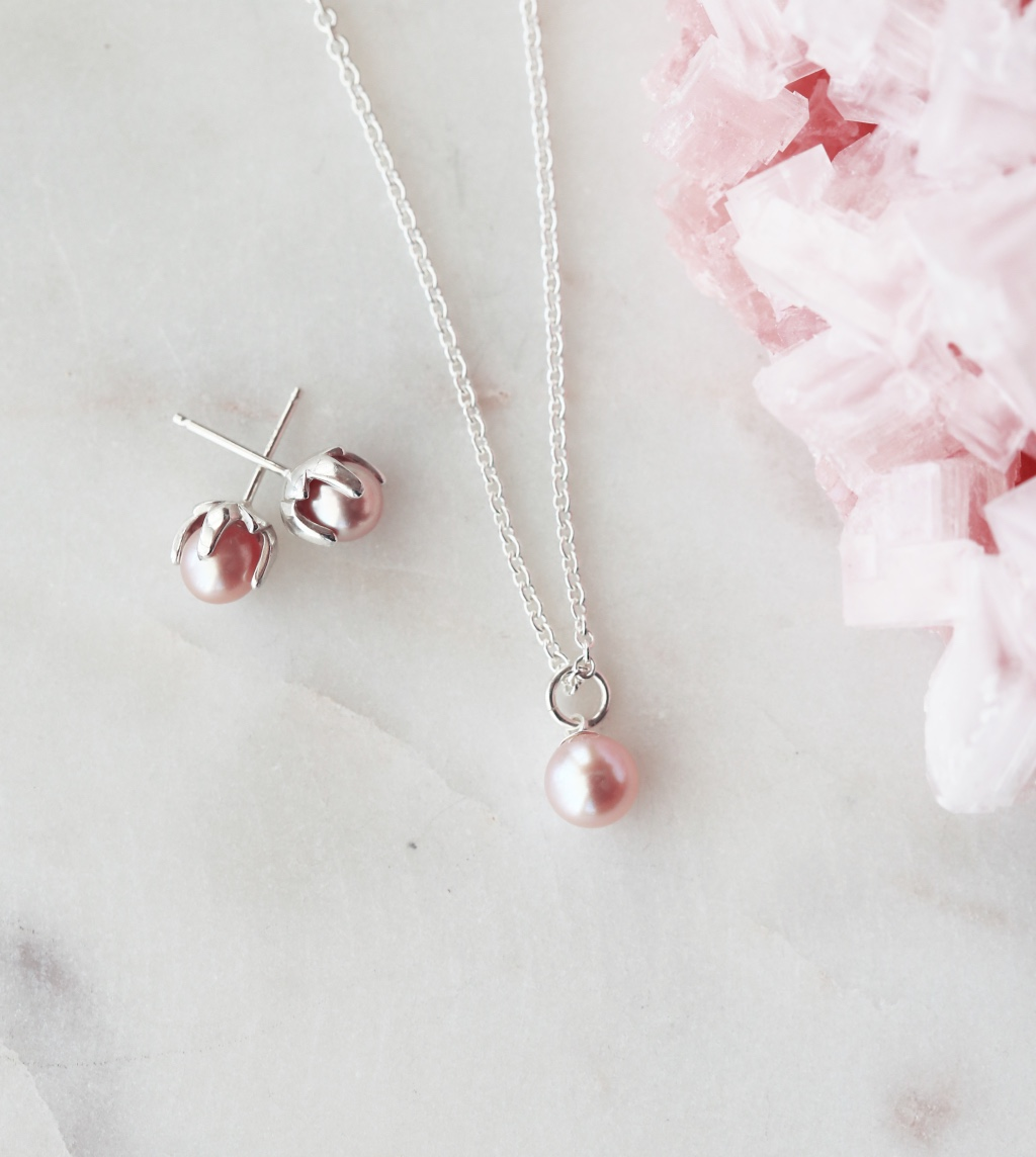 Pink Pearls for Bridesmaids & the Bride. Precious, and beautiful the perfect gift of faith and love.