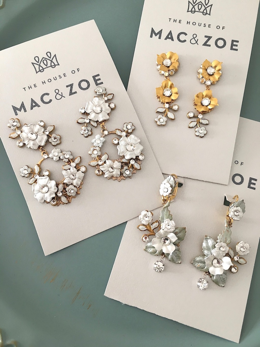 Blooms for your ears. Unique earrings that you can wear again after the wedding. What could be more perfect for a garden wedding and