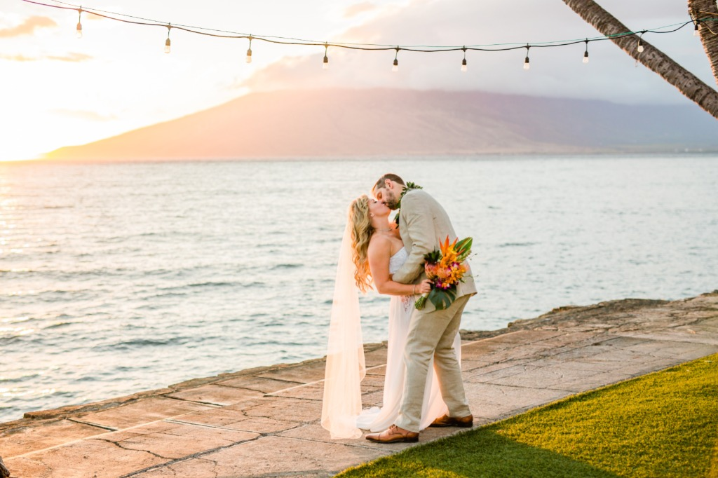 A Maui sunset on your wedding is a magical thing! I promise you!