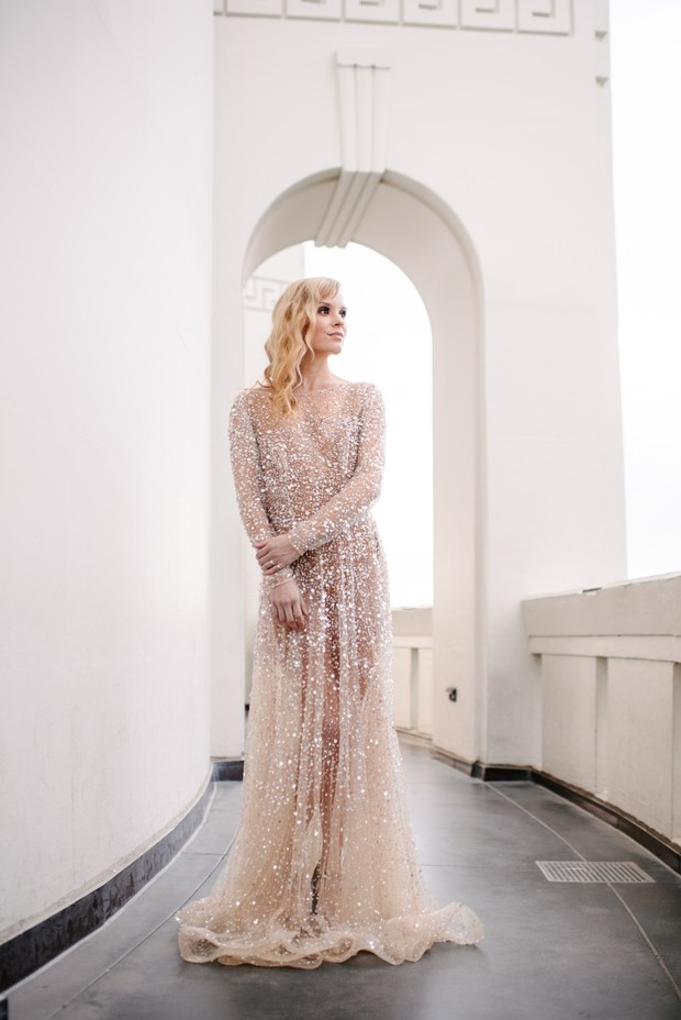 glittery gown from Chosen by One Day