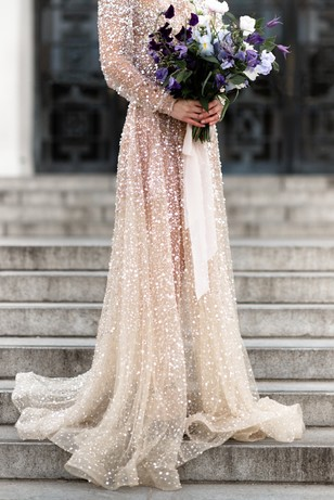 glittery Choose By One Day dress