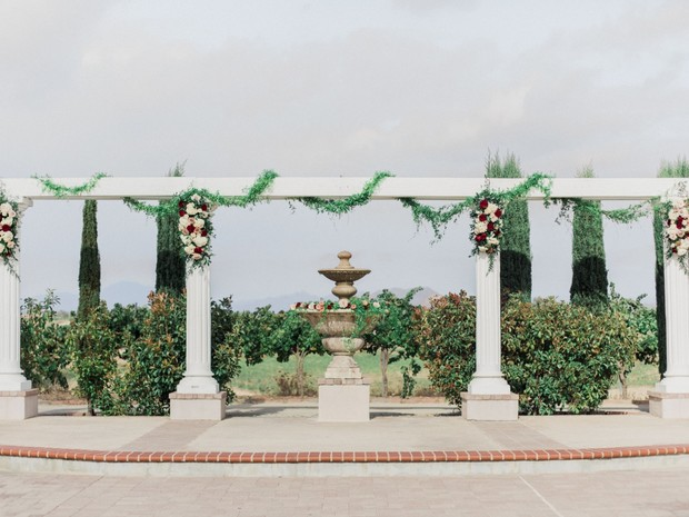 outdoor wedding ceremony at Mount Palomar Winery