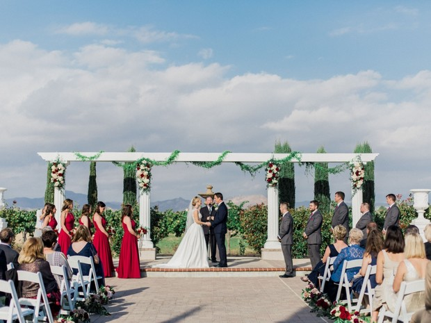 outdoor ceremony at Mount Palomar Winery