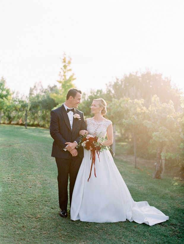 gorgeous red winery wedding