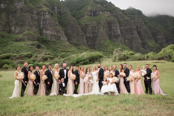 A Chic Gold And Pink Tented Wedding In Hawaii