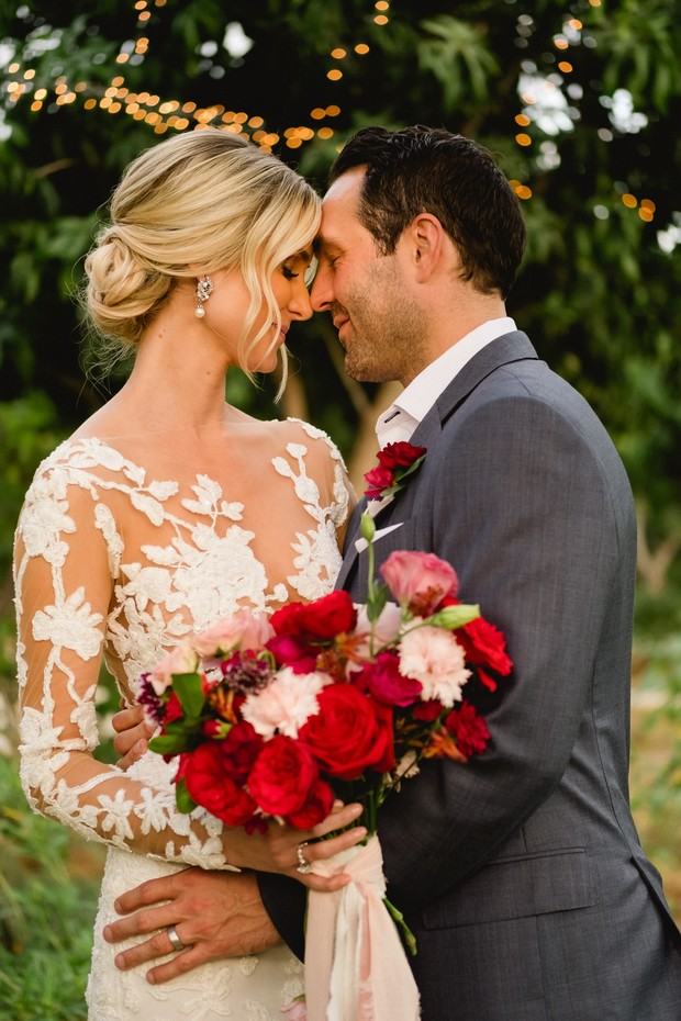 gorgeous red and gold wedding