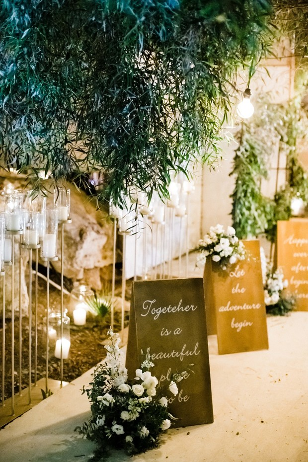 wedding signs and reception entrance