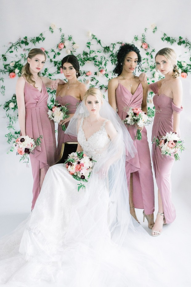 springtime bridal party style