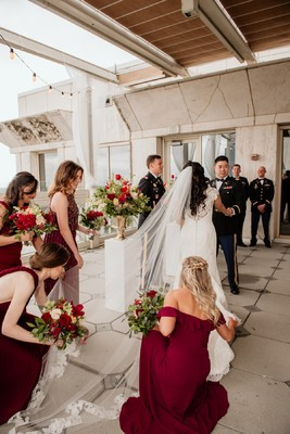 Sophisticated and Romantic Rooftop Terrace Wedding in Atlanta