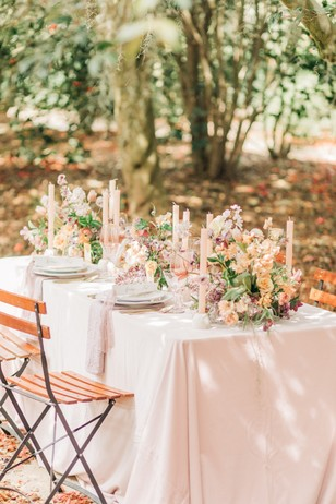 summer floral reception table