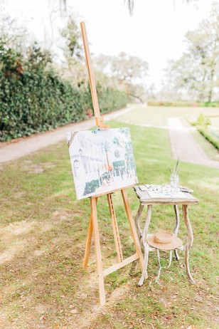 live painting for a wedding