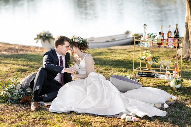 romantic wedding by the lake inspiration