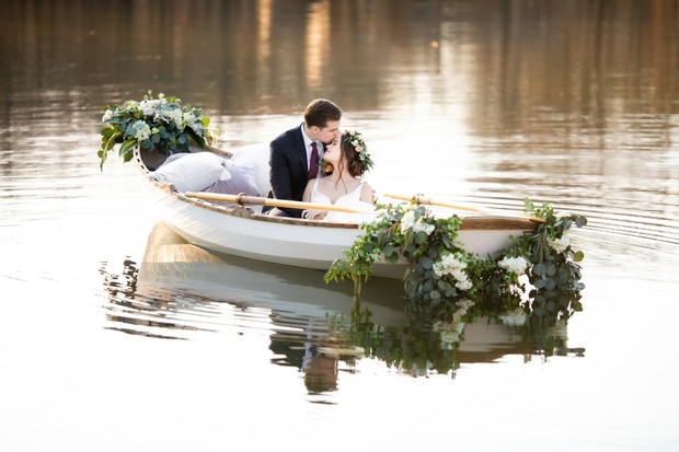 have a row boat for your wedding day