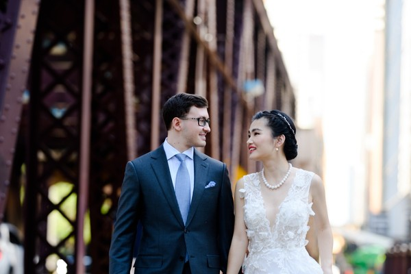An Ultra Modern Chic Wedding in Chicago
