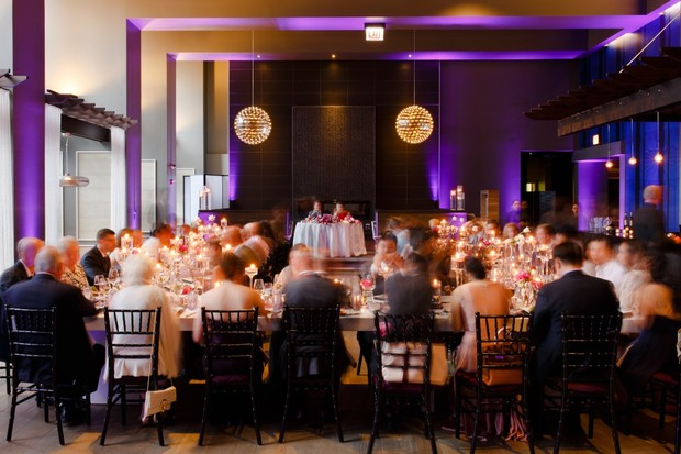 Modern romance wedding reception