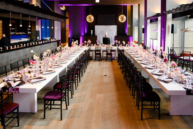 modern wedding reception design